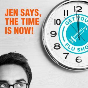 Video: Jen Gets Her Flu Shot