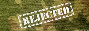 Rejected from the military HIV